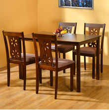 Sutlej 4 Seater Dining Kit - @home by Nilkamal, Antique Cherry
