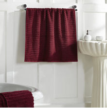 Ribbed Bath Towel - @home Nilkamal,  maroon