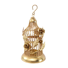 Wine Small Bird Cage - @home by Nilkamal, Gold