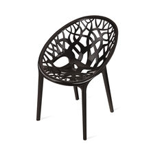 Nilkamal Crystal PP Chair,  black