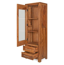 Delmonte Curio Cabinet Right Door - @home Nilkamal,  walnut