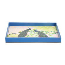 Peacock Rectangle Serving Tray - @home by Nilkamal