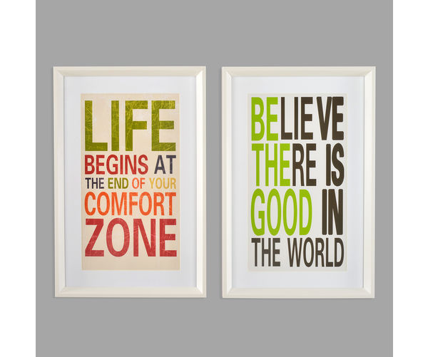 SO2 Believe Life Picture Frame-@home By Nilkamal, Indigo & Olive