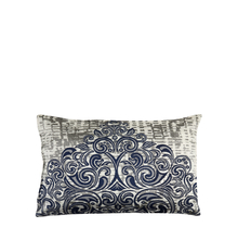 Scroll 30 cm x 45 cm Filled Cushion - @home by Nilkamal, Indigo