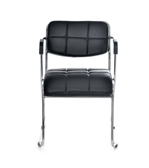 Contract 02 Soft PVC With Arm Chair - @home By Nilkamal,  black