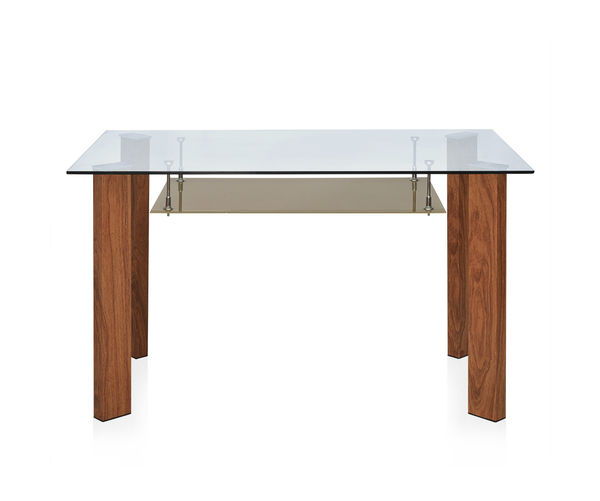 Tavern 4 Seater Dining Table - @home By Nilkamal,  brown