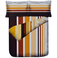 Stripes Single Comforter - @home Nilkamal,  brown