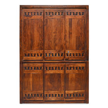 Thyme 3 Door Wardrobe - @home By Nilkamal, Honey Brown