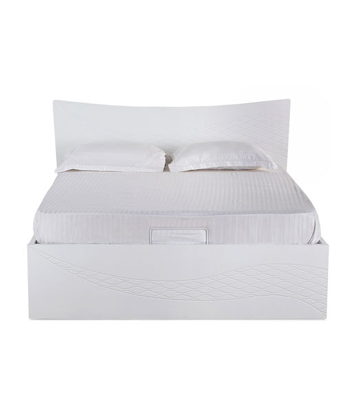 Vienna Queen Bed- @home By Nilkamal, White