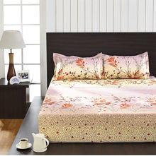Seasons Floral Double Bed Sheet - @home By Nilkamal