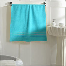 Zerotwist Monarch Shower Towel - @home Nilkamal,  aqua