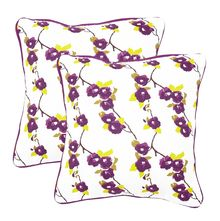 12'x12' Royal Legacy Set of 2 Cushion Covers - @home Nilkamal, multi