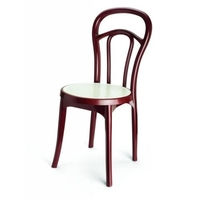 Nilkamal Chair Series 4040, Maroon/Cream