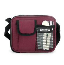 Bergner Executive Set of 4 Lunch Box with Bag - Maroon