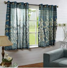 44'x60' Bricks Window Curtain - @home Nilkamal,  blue