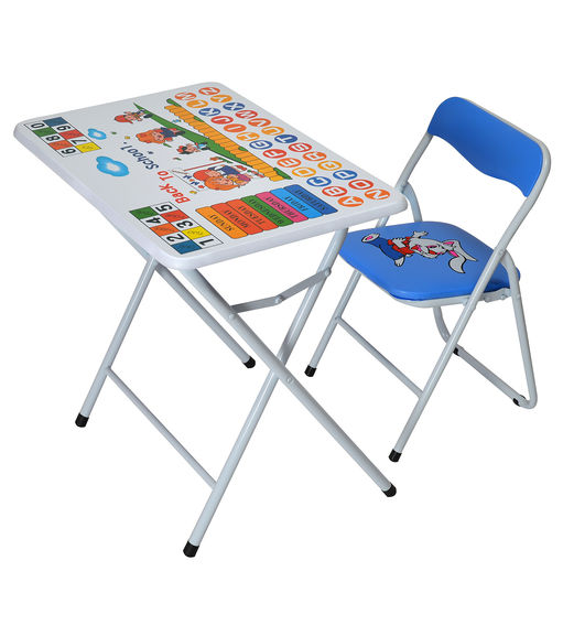 Disney Kids Study Table With Chair - @home By Nilkamal, White Blue