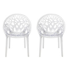 Nilkamal Crystal PC Chair Set of 2, Clear