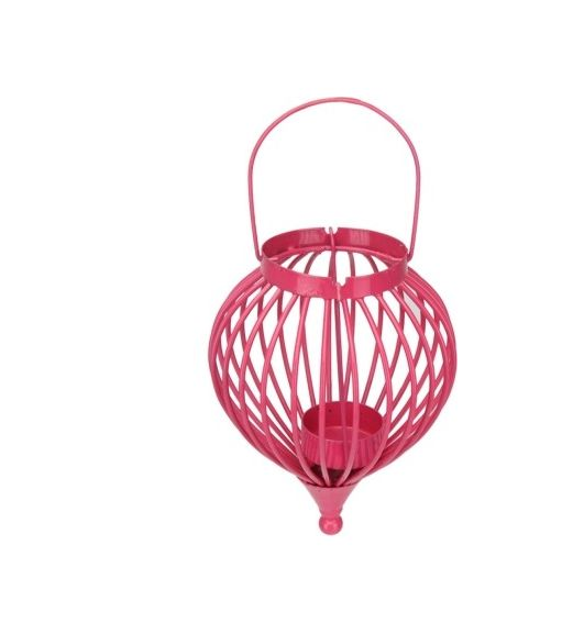 Boond Hanging Tealight Holder- @home By Nilkamal, Pink