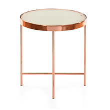Floris Side Table - @home by Nilkamal, White & Copper