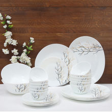 Laopala Diva Golden Fall 27 Pieces Dinner Set, Ivory