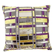 24'x24' Blocks Cushion Cover - @home Nilkamal,  purple