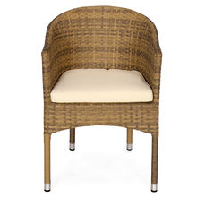 Nilkamal Mildura Garden Chair, Brown & Grey