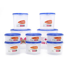 Varmora Kitchen Mate 10 Pieces Round Dry Storage Container