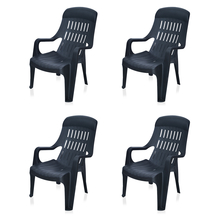 Nilkamal Weekender Garden Chair Set of 4 - Black