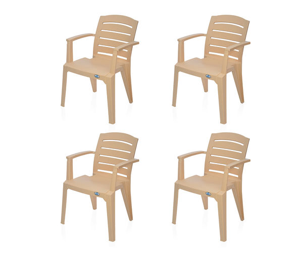 Nilkamal Passion Garden Chair Set of 4 - Biscuit