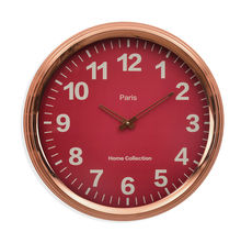 Aristro Wall Clock - @home By Nilkamal, Fusia