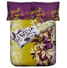Blossom Double Comforter - @home Nilkamal,  purple