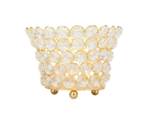 Winter Sunset Candle Holder- @home By Nilkamal, Gold