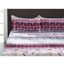 Seasons Geo Double Bed Sheet - @home By Nilkamal, Multicolor
