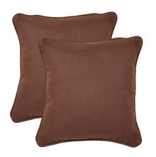 16'x16' Bliss Set of 2 Cushion Covers - @home Nilkamal,  beige