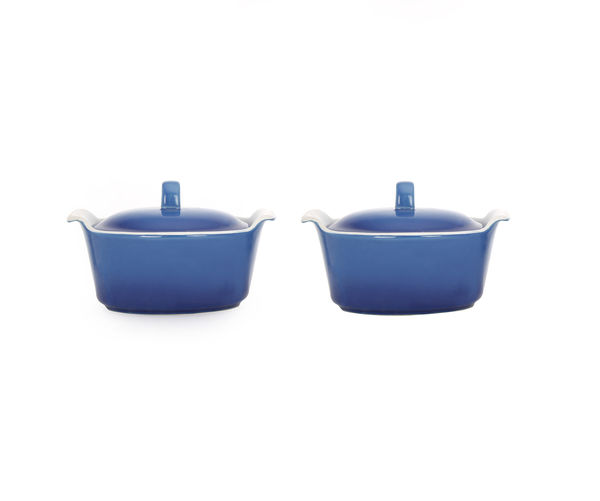 Bergner Casserole with Lid Set of 2 - Blue