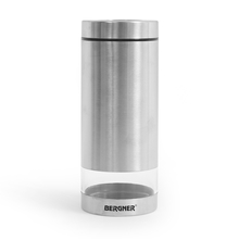 Bergner Stainless Steel Airtight 1.15 L Canister, Silver