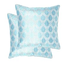 16'x16' Glory Set Of 2 Cushion Covers - @home Nilkamal,  blue