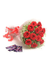 Ferns N Petals Roses With Chocolates - Rose Day