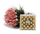 Ferns N Petals Roses With Chocolates (MN-EX004Choco)