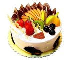 Ferns N Petals Fresh Fruit Cake 1kg Eggless (EGCAKECONO1892)