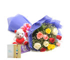 Ferns N Petals Express Rakhi Mix Roses N Chocolates