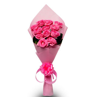 Ferns N Petals Pink Beauty - Rose Day