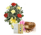 Ferns N Petals Mix Carnation With Dry Fruits Express Rakhi