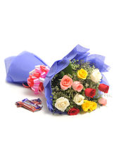 Ferns N Petals Sweet Mix Roses-Vl
