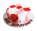 Ferns N Petals Mothers Day 1kg Rose Cake Eggless (KRAZYCHOC29)