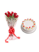 Ferns N Petals Pineapple Cake With Flowers - Vl