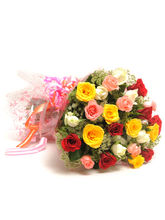 Ferns N Petals Elegant Mix -Rose Day