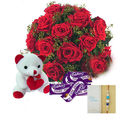 Ferns N Petals Teddy With Chocolates Express Rakhi