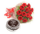 Ferns N Petals Fathers Day - Roses N Cake Combo
