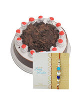 Ferns N Petals Express Rakhi & Half Kg Blackforest...